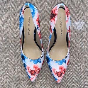 EUC Antonio Melani Floral Design Heels Size 7.